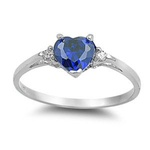 Pure .925 Sterling Silver Heart Ring
